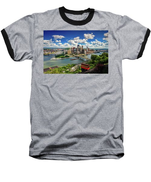 Baseball T-Shirt featuring the photograph It's A Beautiful Day In The Neighborhood by Emmanuel Panagiotakis
