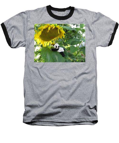Baseball T-Shirt featuring the photograph It's A Big Sunflower by Ausra Huntington nee Paulauskaite
