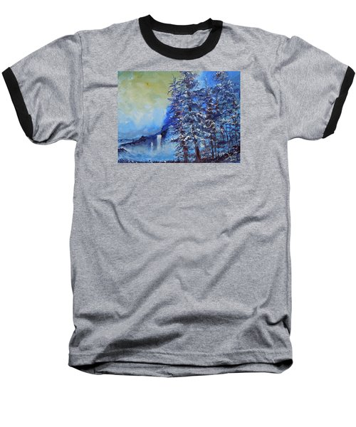 Baseball T-Shirt featuring the painting It's Cold Out by Dan Whittemore