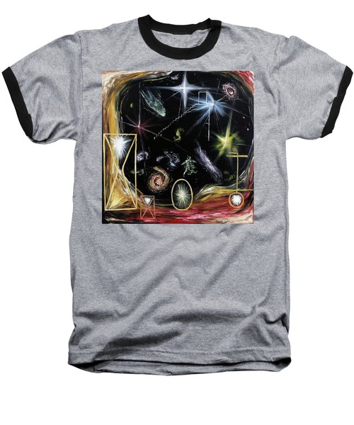 It's Full Of Stars  Baseball T-Shirt by Ryan Demaree