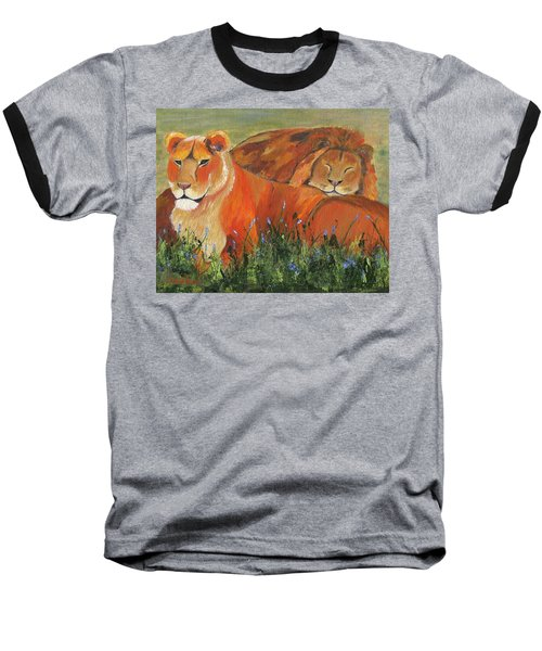 Baseball T-Shirt featuring the painting It's Good To Be King by Jamie Frier