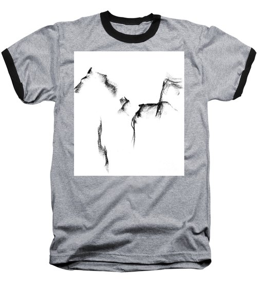 Its Just A Little Sketch Baseball T-Shirt by Frances Marino