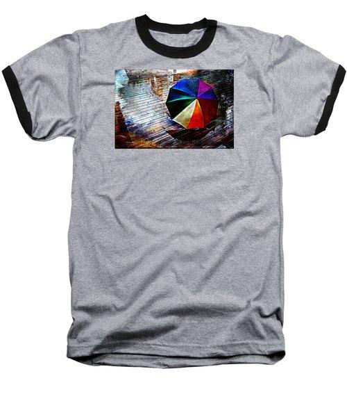 It's Raining Again Baseball T-Shirt by Randi Grace Nilsberg