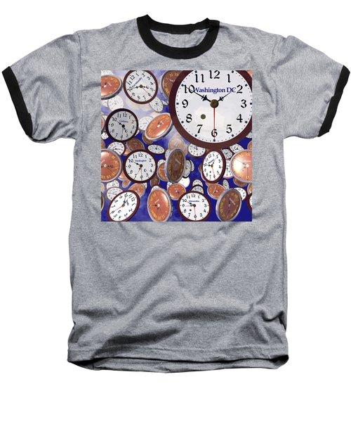 It's Raining Clocks - Washington D. C. Baseball T-Shirt