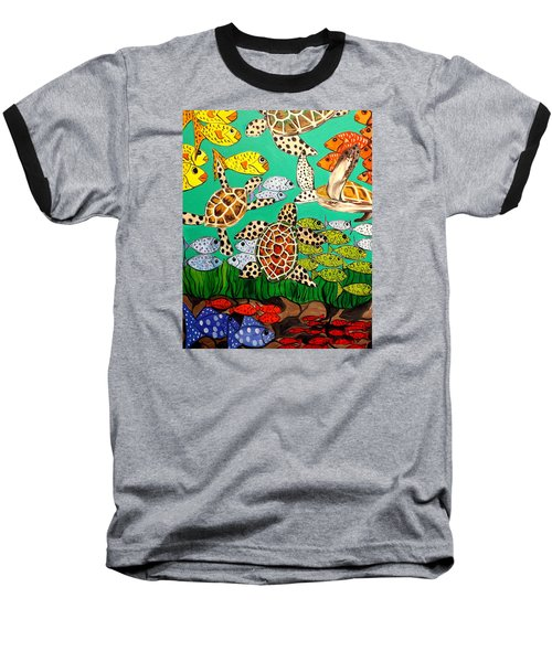 It's Turtle Time Baseball T-Shirt by Lisa Aerts