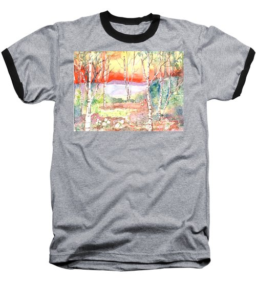 Baseball T-Shirt featuring the painting Ivan's Eve by Renate Nadi Wesley