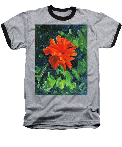 Baseball T-Shirt featuring the painting I've Got My Red Dress On by Billie Colson