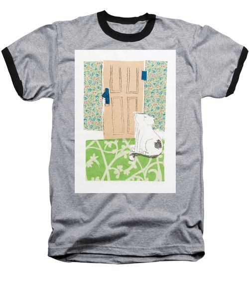 Ive Got Places To Go People To See Baseball T-Shirt by Leela Payne