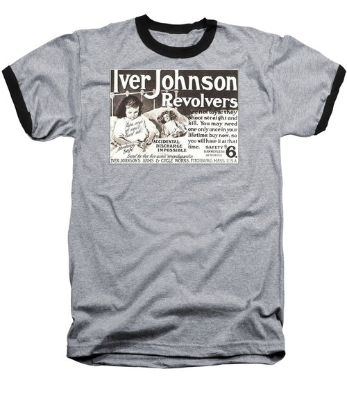 Baseball T-Shirt featuring the digital art Iver Johnson Revolvers by Reinvintaged