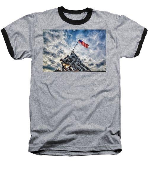 Iwo Jima Memorial Baseball T-Shirt