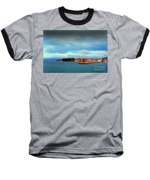 Baseball T-Shirt featuring the photograph Izola From The Marina by Graham Hawcroft pixsellpix
