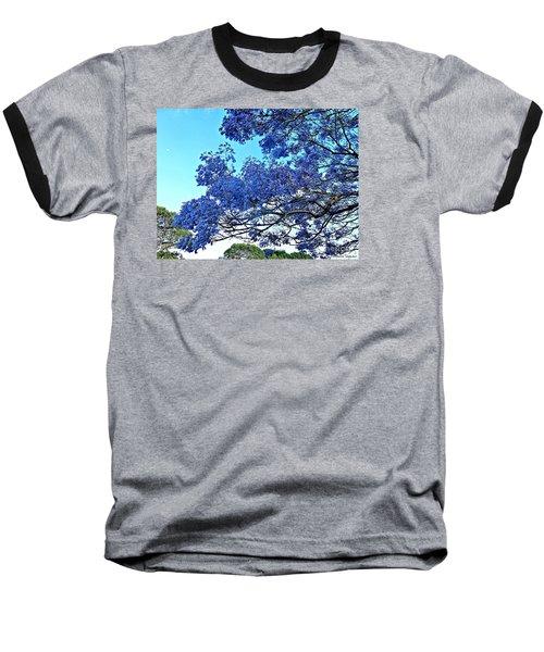 Jacaranda And The Moon Baseball T-Shirt