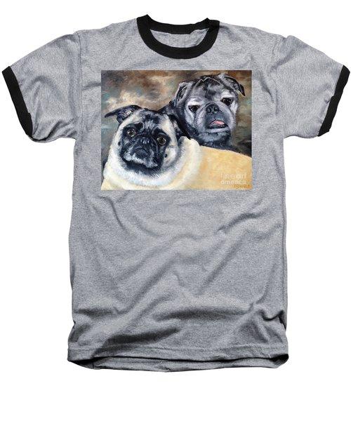 Jack And Bella Baseball T-Shirt by Diane Daigle