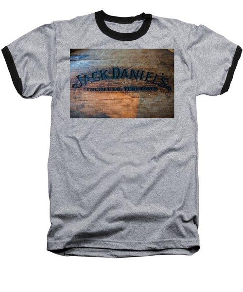 Jack Daniels Oak Barrel Baseball T-Shirt