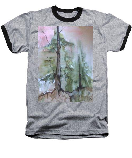 Jackfish Lake Baseball T-Shirt by Pat Purdy