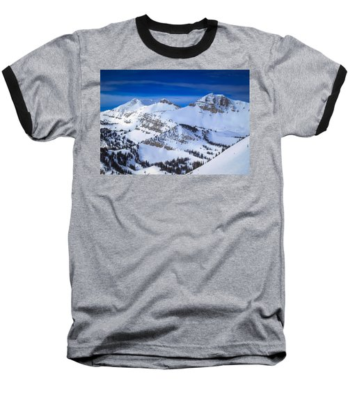 Baseball T-Shirt featuring the photograph Jackson Hole, Wyoming Winter by Serge Skiba