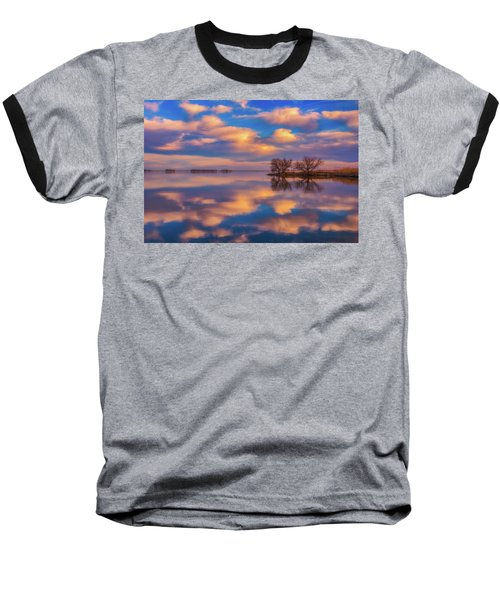 Baseball T-Shirt featuring the photograph Jackson Lake Sunset by Darren White