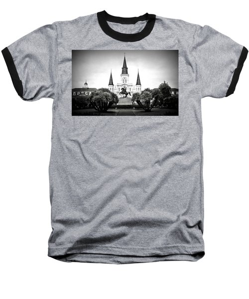Jackson Square 2 Baseball T-Shirt by Perry Webster