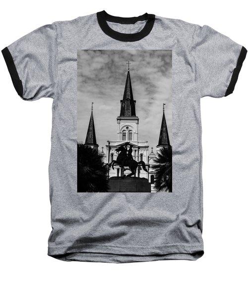 Jackson Square - Monochrome Baseball T-Shirt