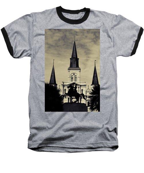 Jackson Square - Split Tone Baseball T-Shirt