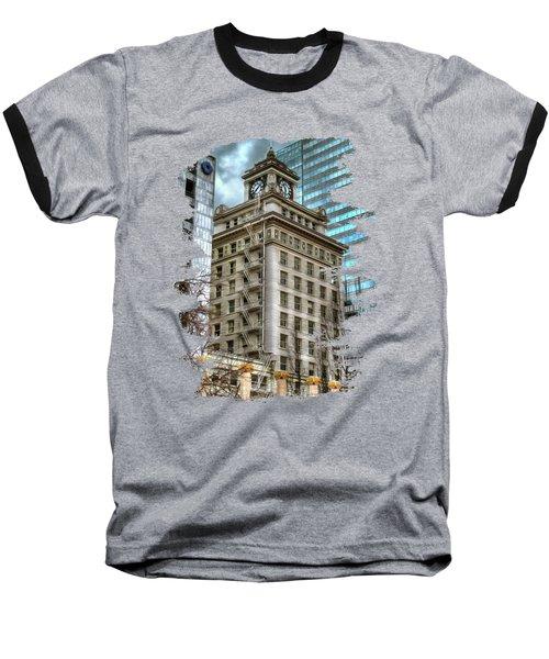 Jackson Tower Portland Oregon Baseball T-Shirt