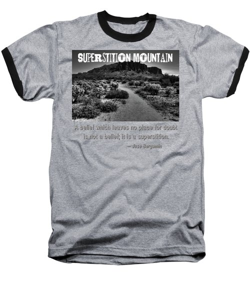 Jacobs Crosscut Trail In The Superstition Wilderness Baseball T-Shirt