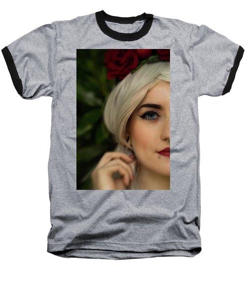 Jade Close Crop Baseball T-Shirt