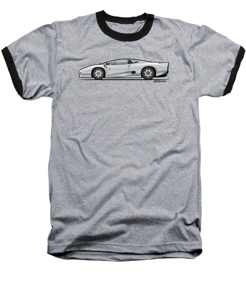 Jag Xj220 Spa Silver Baseball T-Shirt by Monkey Crisis On Mars