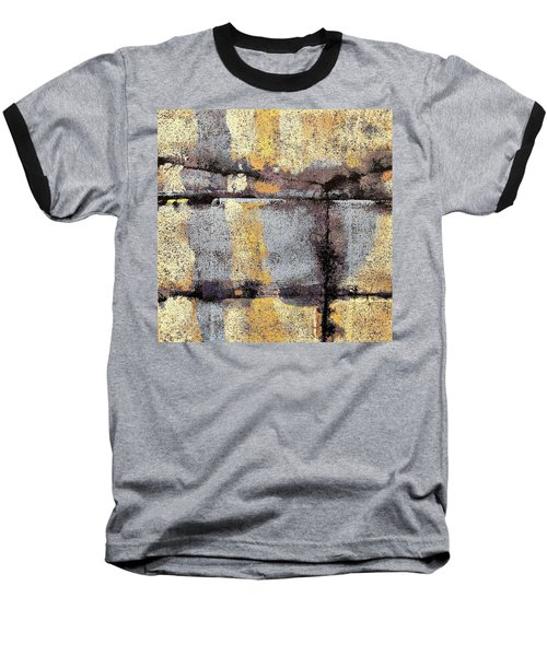 Jagged Lavendar Baseball T-Shirt by Maria Huntley