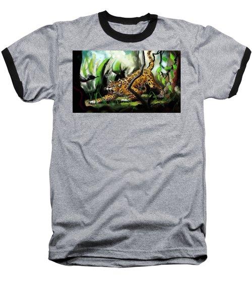 Jaguar And Boa Baseball T-Shirt