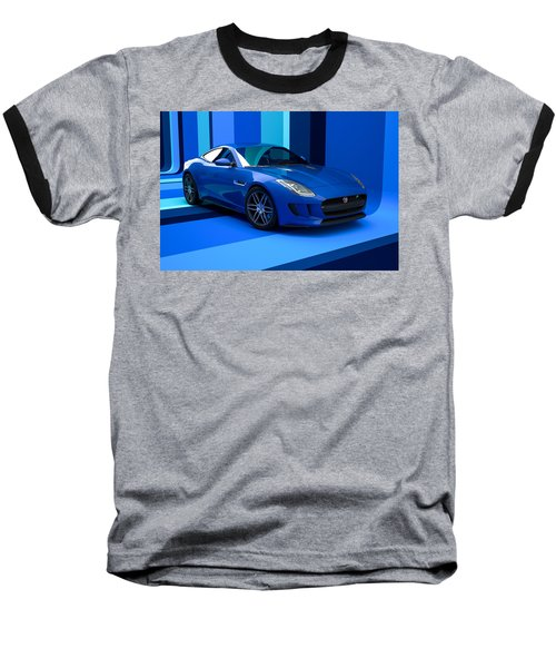 Jaguar F-type - Blue Retro Baseball T-Shirt