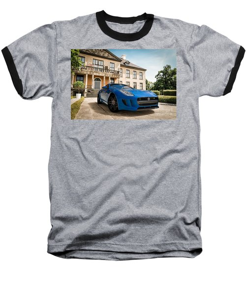 Jaguar F-type - Blue - Villa Baseball T-Shirt