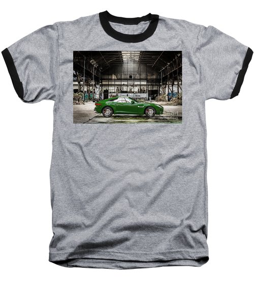 Jaguar F-type - British Racing Green - Side View Baseball T-Shirt