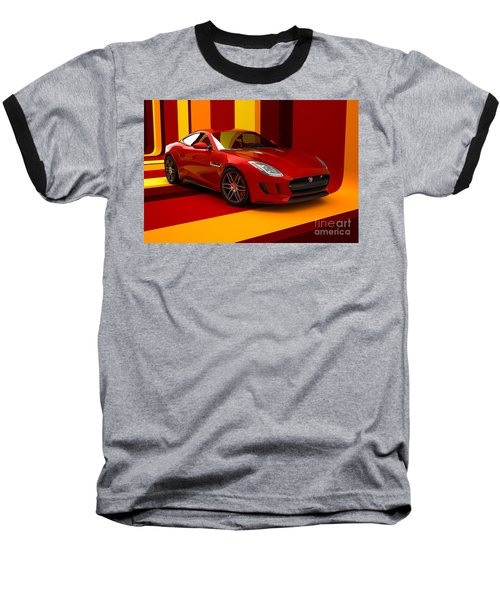 Jaguar F-type - Red Retro Baseball T-Shirt