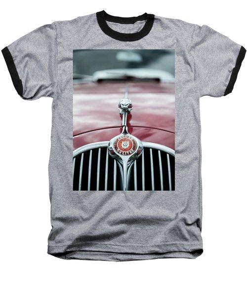 Jaguar Grille Baseball T-Shirt by Helen Northcott