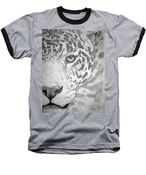 Baseball T-Shirt featuring the drawing Jaguar by Mayhem Mediums