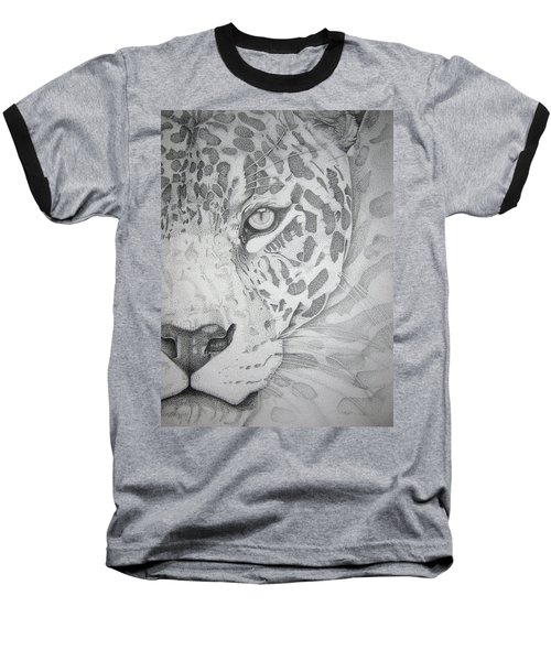 Jaguar Pointillism Baseball T-Shirt