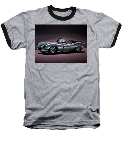 Jaguar Xkss 1957 Painting Baseball T-Shirt