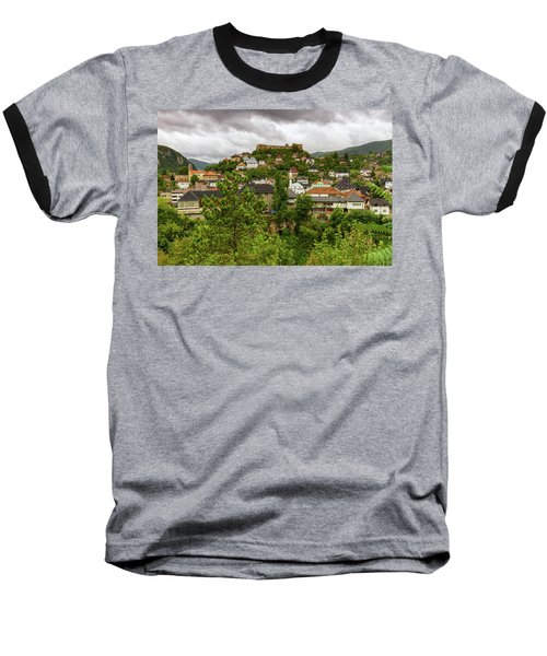 Jajce, Bosnia And Herzegovina Baseball T-Shirt by Elenarts - Elena Duvernay photo