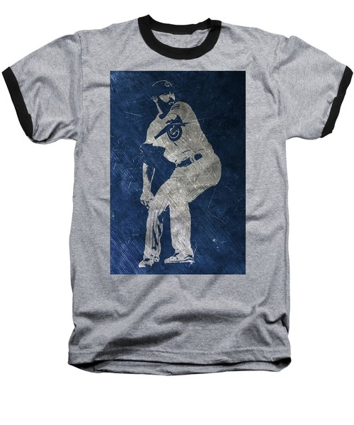 Jake Arrieta Chicago Cubs Art Baseball T-Shirt