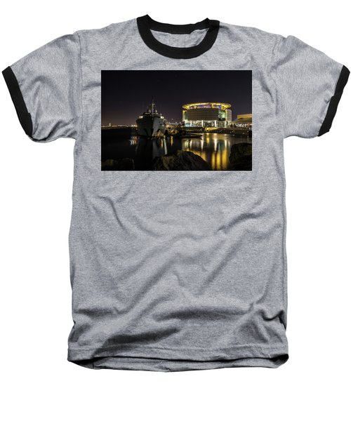 Baseball T-Shirt featuring the photograph Jamaica Bay At Discovery World by Randy Scherkenbach
