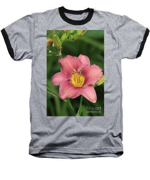 Jamaica Sunrise Daylily Baseball T-Shirt
