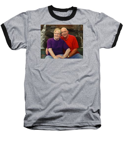 Baseball T-Shirt featuring the painting James And Judy Ballard by Glenn Beasley