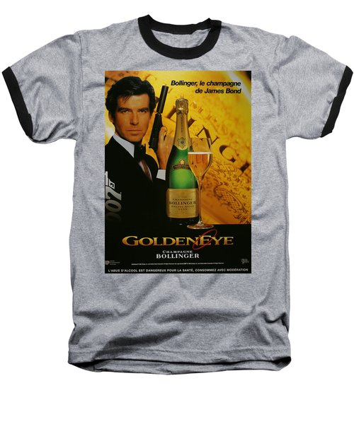 James Bond Ad 1995 Baseball T-Shirt by Andrew Fare