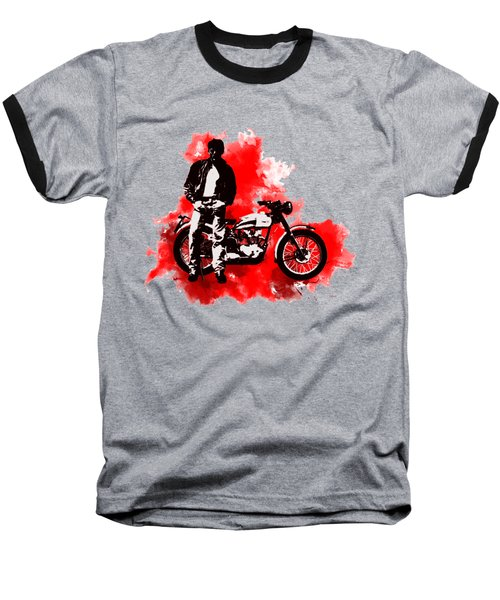 James Dean And Triumph Baseball T-Shirt