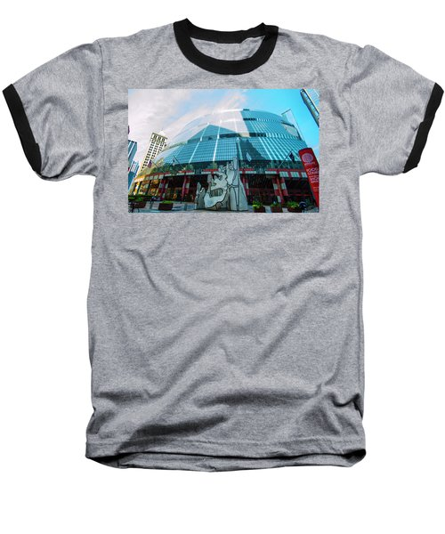 Baseball T-Shirt featuring the photograph James R. Thompson Center Chicago by Deborah Smolinske