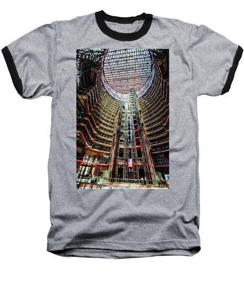 Baseball T-Shirt featuring the photograph James R Thompson Center Interior Chicago by Deborah Smolinske