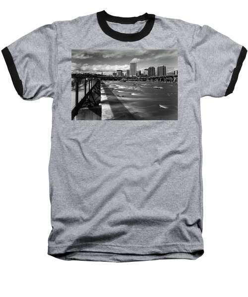 Baseball T-Shirt featuring the photograph James River Richmond  by Alan Raasch