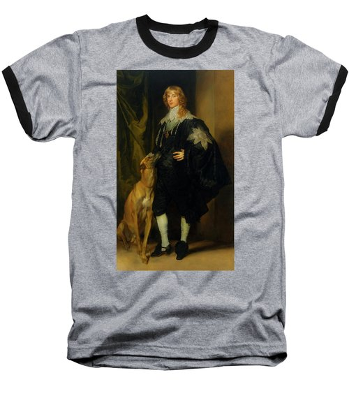 Baseball T-Shirt featuring the painting James Stuart - Duke Of Richmond And Lennox                       by Anthony Van Dyck