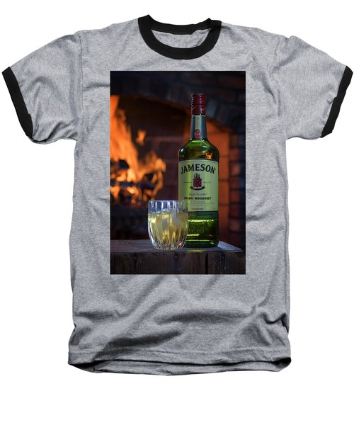 Jameson By The Fire Baseball T-Shirt by Rick Berk